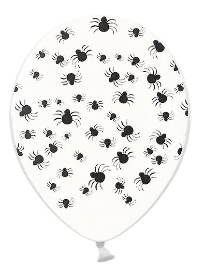 50 Spinnen Gewimmel Ballons transparent 30cm