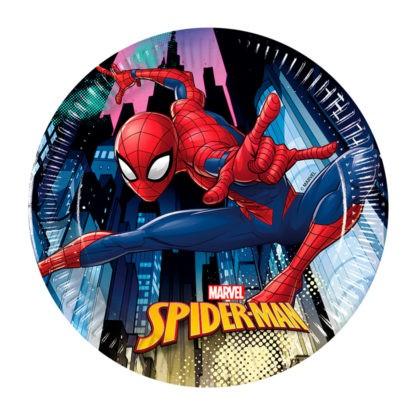 Spiderman Team Up 8 assiettes en papier 20cm