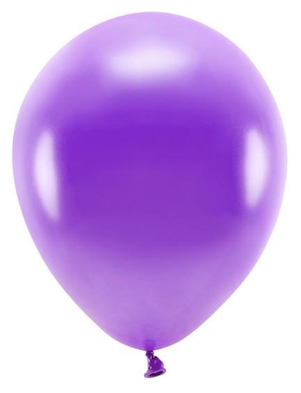 100 Eco metallic Ballons violett 30cm