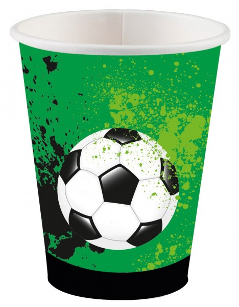 8 vasos de papel Football Game Time 250ml