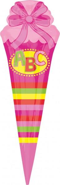 Folie ballon schooltas roze XL