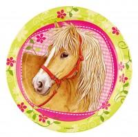 8 Pappteller Partytime Pony 23cm