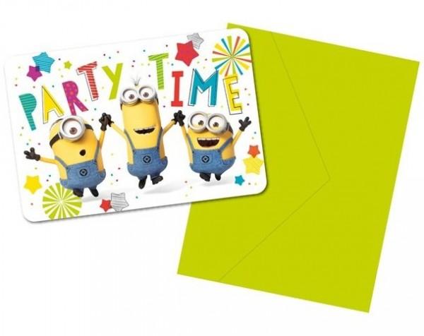 8 Hooray Minions Einladungskarten