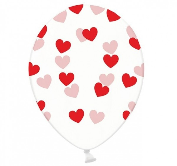 6 Transparente Luftballons True Love 30cm