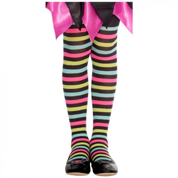 Medias de rayas de colores para niños de 6 a 8 años