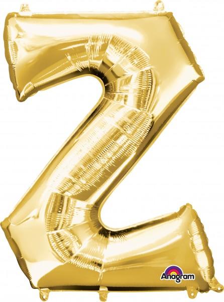 Buchstaben Folienballon Z gold 83cm