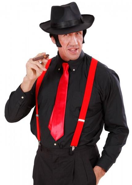 Rote Satin Krawatte