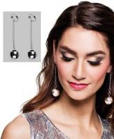 Silberne Discokugel Ohrringe
