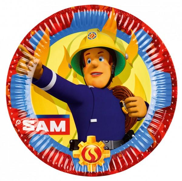 8 Feuerwehrmann Sam SOS Pappteller 23cm