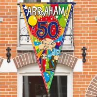 Abraham Party Wimpel 1 x 1,5m