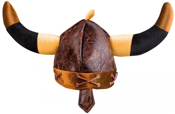 Brown viking fabric helmet