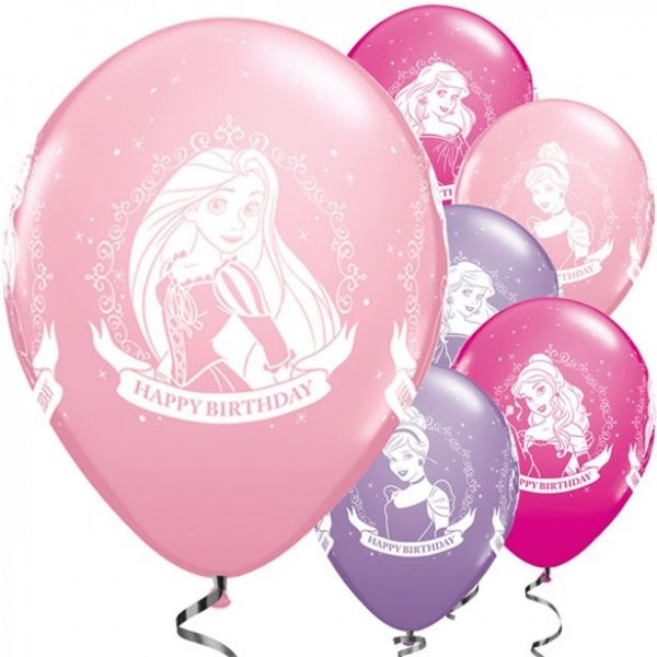 25 Disney Prinzessinnen Latexballons 28cm