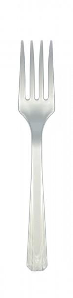20 fourchettes en plastique en argent