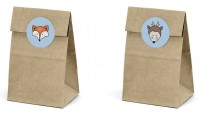 6 Woodland gift bags 8 x 16cm