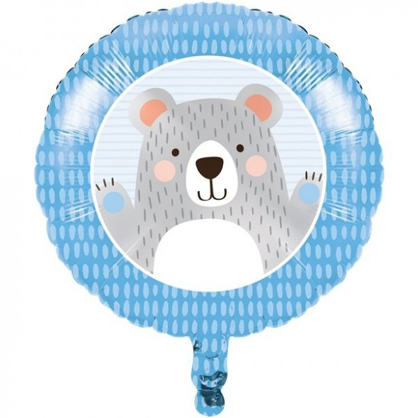 Bear party foil balloon 46cm