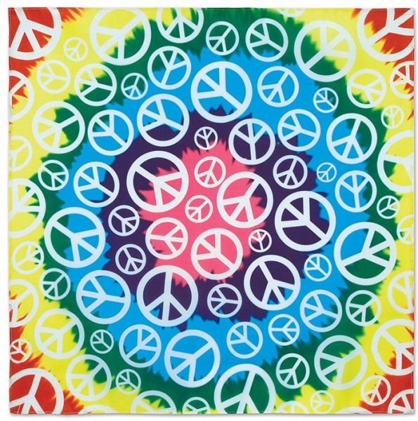 Buntes Hippie Peace Kopftuch