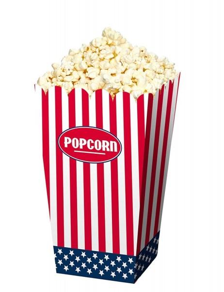4 Popcorn Tüten USA Party