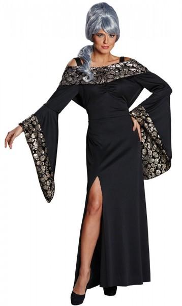 Elegantes Totenkopfkleid Kostüm für Damen