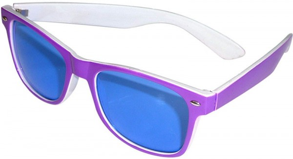 Nerdige Sonnenbrille Lila Weiß