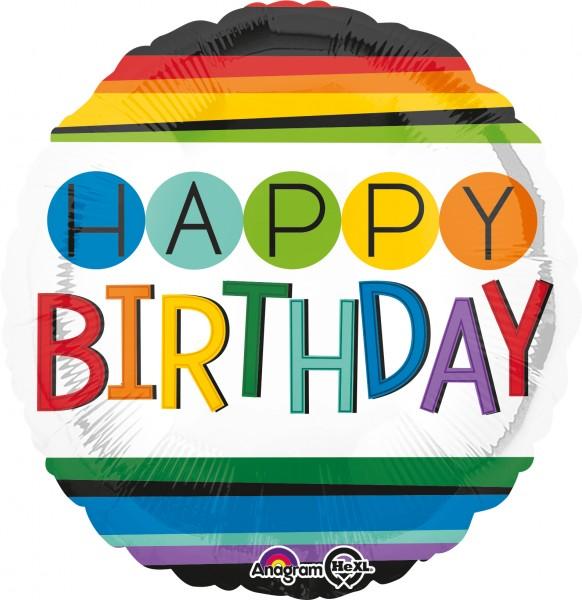 Fête d'anniversaire arc-en-ciel ballon aluminium