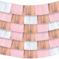 9 Folienbanner Roségold pastellfarben 152 x 25cm