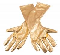 Handschuh in Metallic-Gold