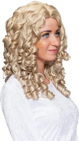 Peluca de pelo largo con rizos de ángel premium