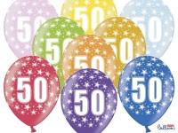 6 Wild 50th Birthday Luftballons 30cm
