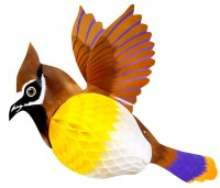 Wabenball Vogel Dekoration