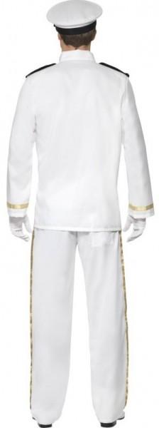 Weißes Kapitäns Herrenkostüm