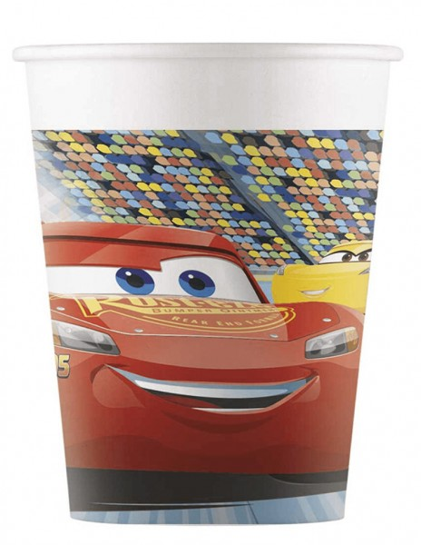 8 Cars 3 Pappbecher 200ml