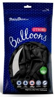 50 Partystar Luftballons schwarz 30cm