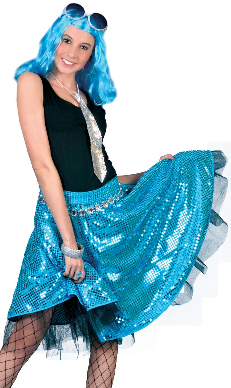 c5bf785a81e7 Jupe disco turquoise sequin   Französisch