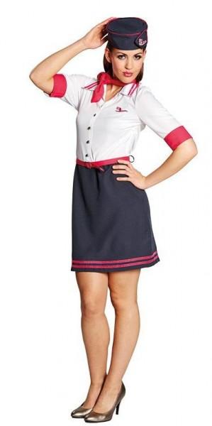 Stewardess Eva Flugbegleiterinnenkostüm