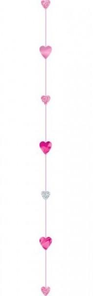 Glitrende hjerteballon vedhæng 1,8 m