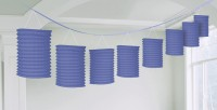 Lila Papier Laternen Girlande 3,65m