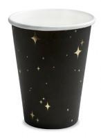 6 Sternenschimmer Pappbecher 260ml