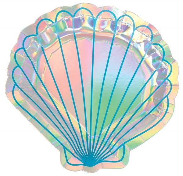 8 Shellebrate Meerjungfrau Teller 18cm