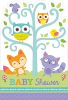 Babyparty Liebenswerte Waldtiere Einladungskarte 8 Stück