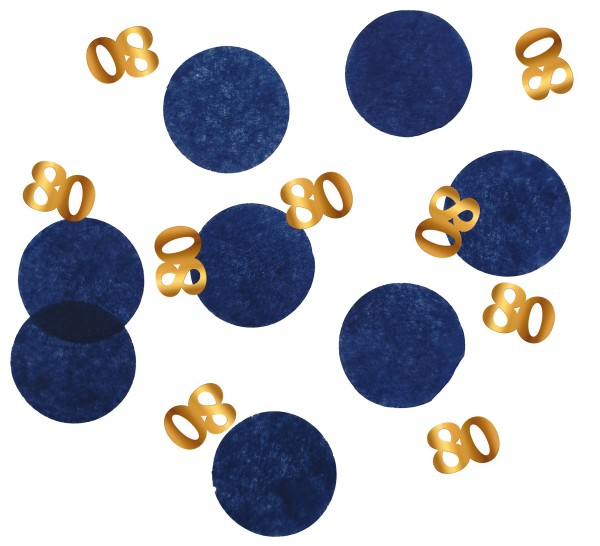 80. Geburtstag Konfetti 25g Elegant blue