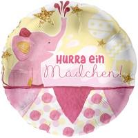 Rosa Babyfant Folienballon 45cm