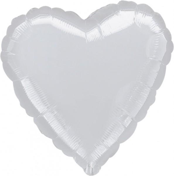 Globo corazón plateado 46cm