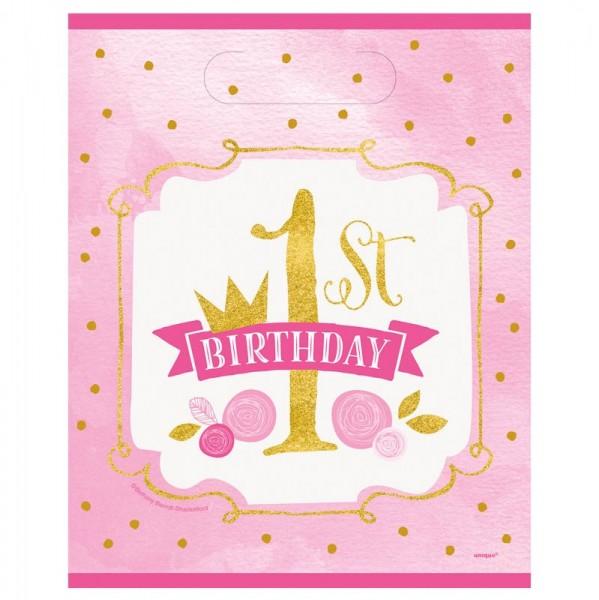8 torebek na prezenty urodzinowe księżniczki Alicji 23 x 18 cm
