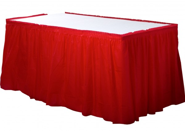Table border Mila red 4.26mx 73cm
