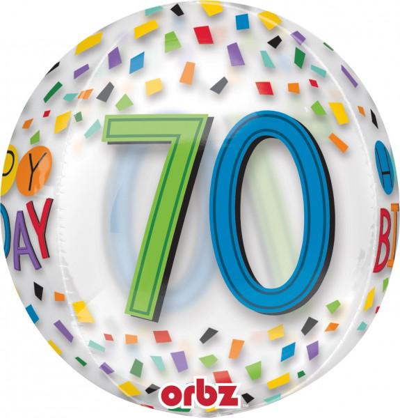 Kugelballon Konfetti 70. Geburtstag