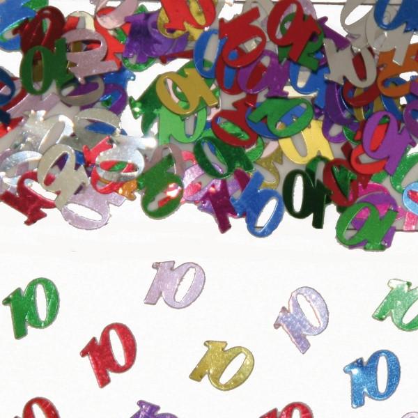 15g strooi decoratie nummer 10 gekleurd