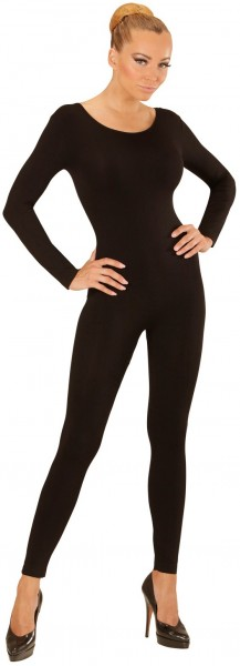 Body de manga larga para mujer negro