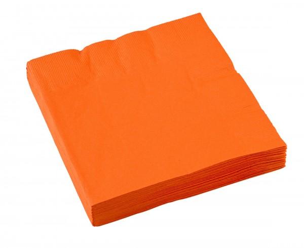 20 Party-Servietten 33cm orange