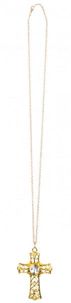 Goldene Halskette Mit Juwel