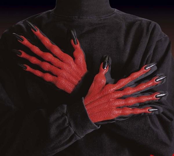 Teuflische 3D Handschuhe Mit Krallen